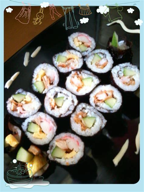 Piring Sushi Piring Saji Sushi Hitam colourfull journey diy sushi roll
