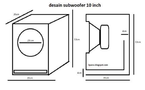 Speaker Ukuran 12 Inch ukuran box untuk subwoofer 10 inchi 55 liter iyaora