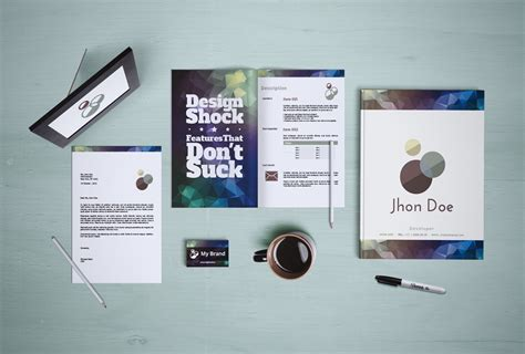 branding mockup templates for stationery 50 items