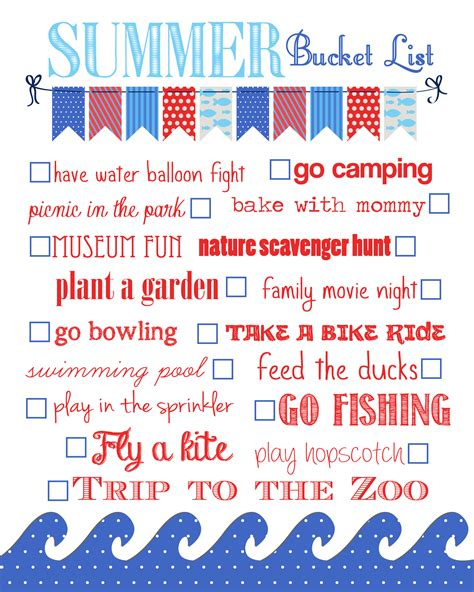 New Home Decorating Ideas summer bucket list free printable how to nest for less
