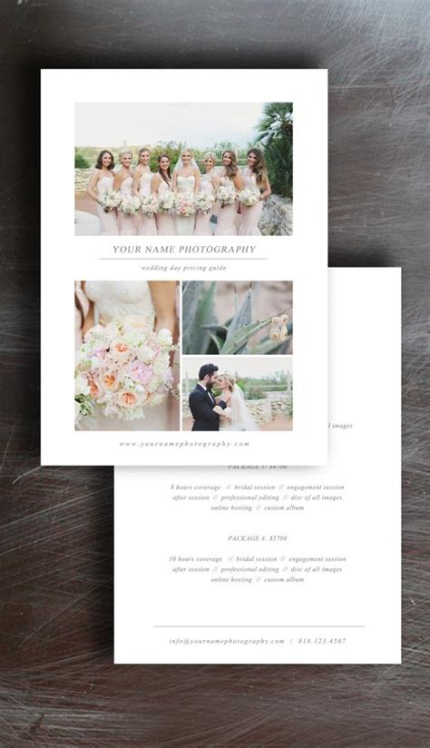 Wedding Photography Price List Pricing Guide Template Wedding Photography Pricing Template Free