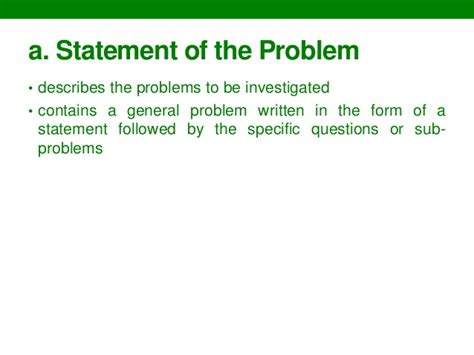 problem statement for thesis how should a thesis problem statement be
