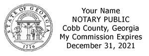 notary public combination st and seal county