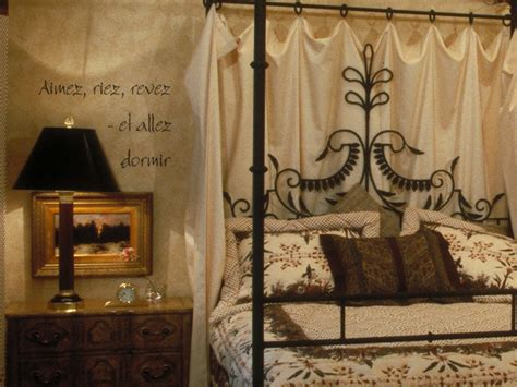 french themed home decor wrought iron bed idea french lettering idea