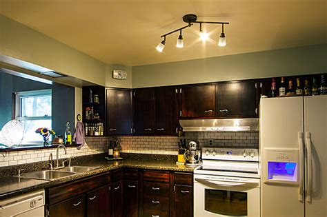 Track Lights In Kitchen Led Kitchen Track Light Fixture Traditional Kitchen