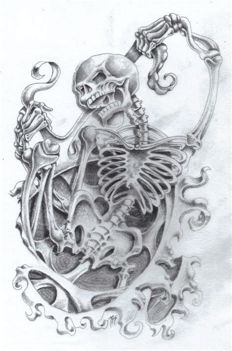 skull bones tattoo designs skeleton tattoos