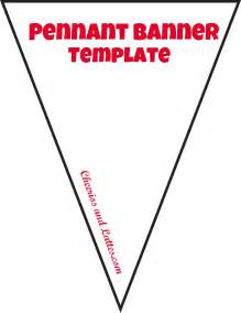 pennant banner template great printable calendars