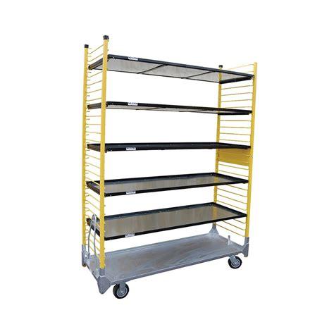 Heavy Duty Pull Out Shelf Slides by Heavy Duty Cart W Base Shelf 4 Slide In Adj Shelves