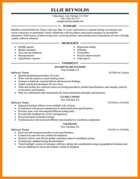 Cover Letter For Software Tester by Eams Integration Tester Cover Letter What Is Essay In