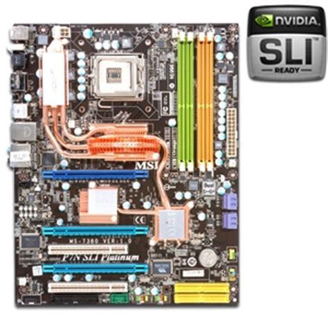 Msi Sockel 775 by Msi P7n Sli Platinum Motherboard Nvidia Nforce 750i Sli Socket 775 Atx Audio Pci Express 2