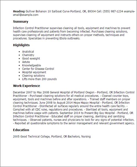 Infection Specialist Cover Letter by 1 Infection Practitioner Resume Templates Try Them Now Myperfectresume