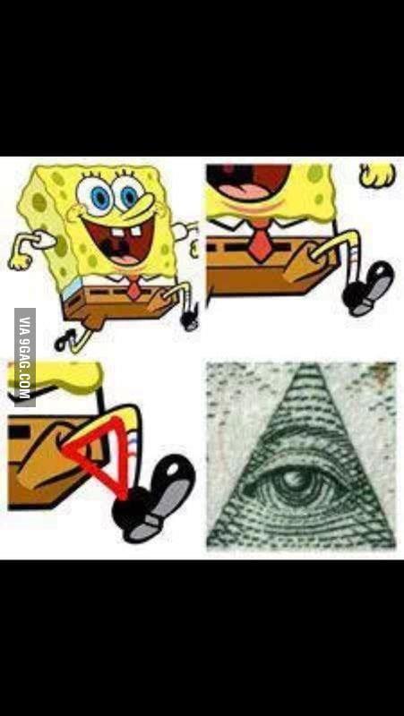 spongebob illuminati illuminati in spongebob 9gag
