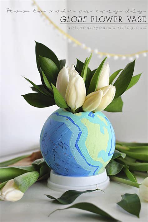 Flower Globe Vase by Diy Globe Flower Vase
