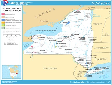 indian reservations usa map map of new york federal lands and indian reservations