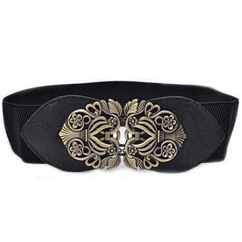 fashion leather belts wide dress belts elastic