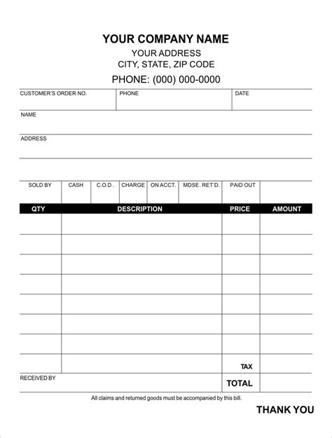 quarter page sales receipt template create your own sales receipts personalize with your