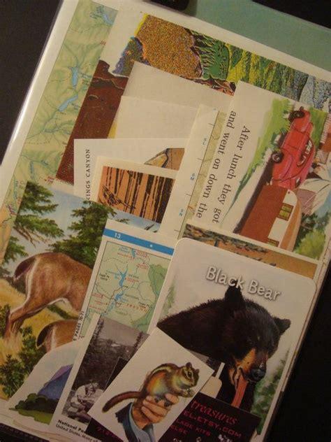 kings canyon  sequoia national park califorina vintage collage  scrapbook kit scrapbook