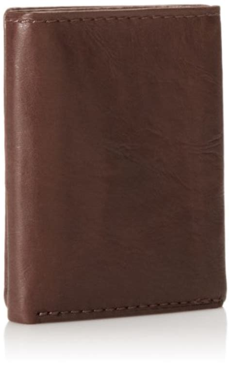 Fossil Ingram Trifold Brown Wallet fossil ingram capacity trifold s wallet brown buy in uae accessory