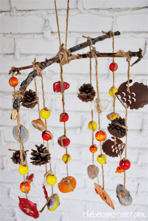 wind chime craft for fall wind chimes family crafts