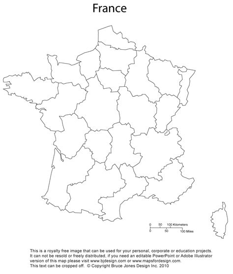 printable maps france blank france map