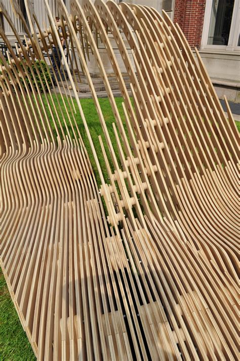 Bench Contemporary Gallery Of Visual Permeability Pavilion Columbia