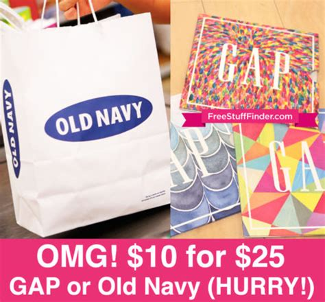 Old Navy Gap Gift Card - hot 10 for 25 gap or old navy gift card through 9 25