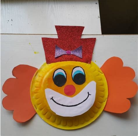 Clown Paper Plate Craft - crafts actvities and worksheets for preschool toddler and
