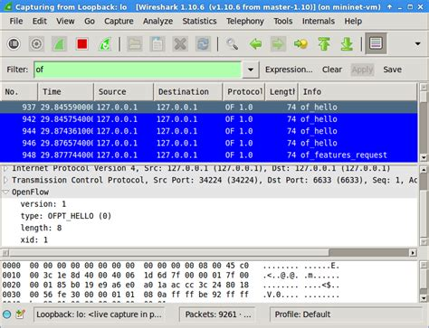 wireshark tutorial filter port how to map openflow switches to tcp ports in mininet sdn