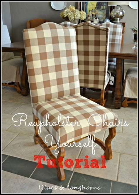 Reupholstering Dining Room Chairs by How To Reupholster A Dining Chair Lilacs And