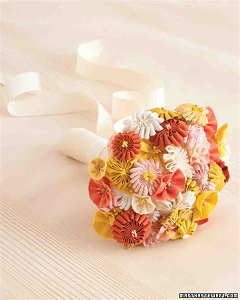Paper Ribbon Flower - how to make paper and fabric flowers for your wedding