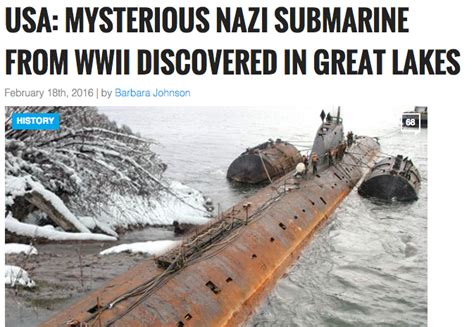 german u boat found in canada fact check was a nazi submarine found in the great lakes