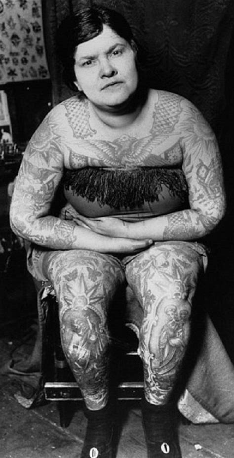 Head To Toe Tattoos Vintage Photographs Of Women Beauty Will Save | beauty will save head to toe tattoos vintage photographs