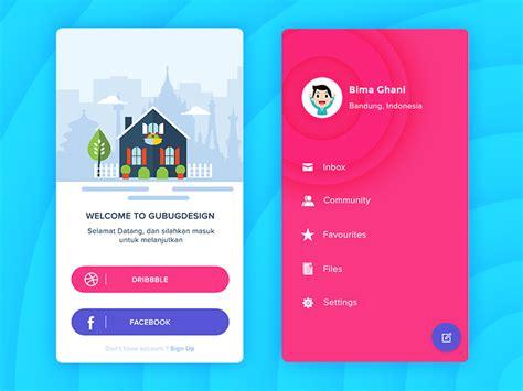 design app work login and profile app design by andika satriatama dribbble