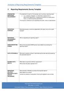 requirement gathering document template 07 analytics reporting requirements template