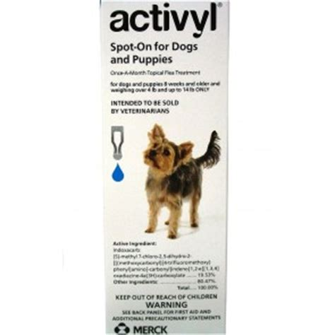 activyl spot on for dogs activyl spot on once a month flea treatment 4 14 lbs single dose ebay