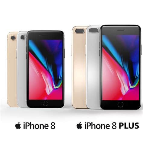 3d iphone 8 and iphone 8 plus cgtrader