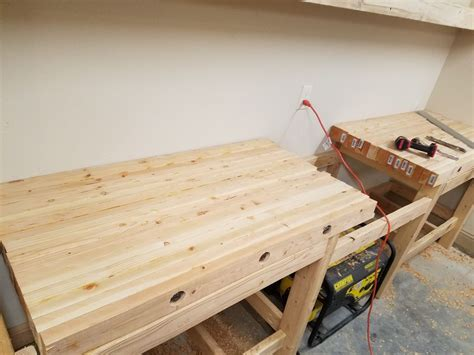create  laminated workbench top  steps