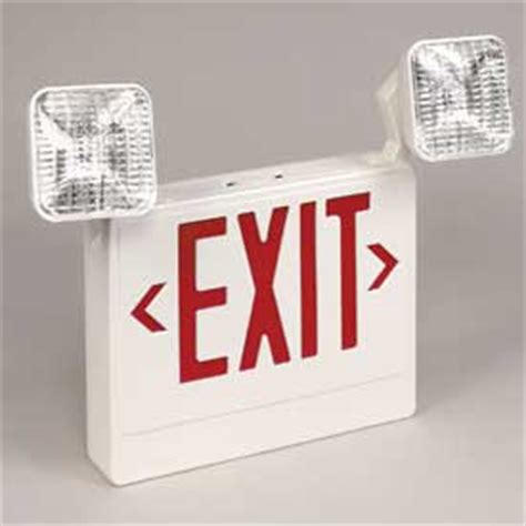 emergency lighting and power equipment emergency lighting exit signs sign light combo units