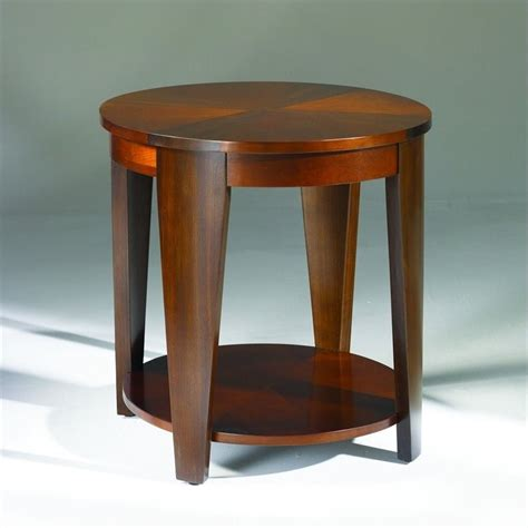 cherry end tables living room hammary oasis oval end table in cherry walnut t2003436 00