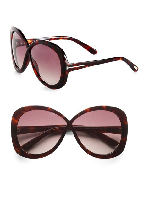 Butterfly Sunglasses tom ford plastic crossover butterfly sunglasses in brown