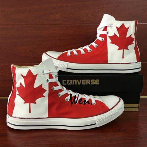 Handmade Shoes Canada - canada flag custom design converse all shoes unisex