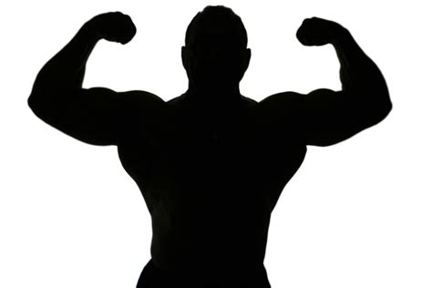 A body builder silhouette isolated on white background ? Fitness For Real People