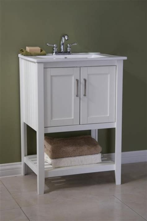 angie single 24 inch contemporary bathroom vanity white