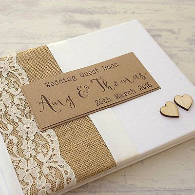 Personalised Wedding Guest Book Handmade - 17 best ideas about personalised wedding guest book on