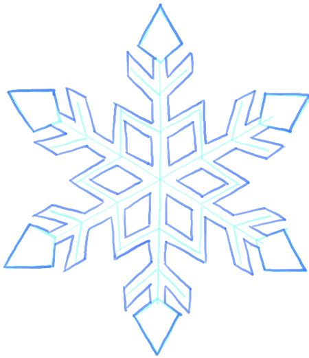 Easy Snowflake Outline by How To Draw A Snowflake Step By Step Drawing Tutorial How To Draw Step By Step Drawing Tutorials