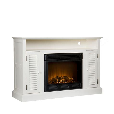 Media Stand With Fireplace sei antebellum media console with electric