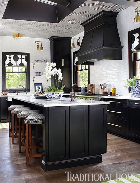 28 black kitchen cabinets fabulously fabulous before and after showhouse kitchen traditional home