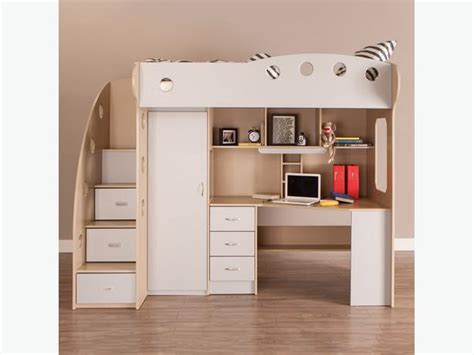 Loft Bed With Closet And Desk by Loft Bed A Whole Bedroom Desk Closet Cubbies More