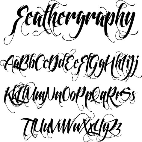 tattoo fonts urban feathergraphy graffitti fonts