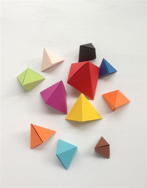 Origami Shapes - origami bipyramid tutorial what to do with them mr